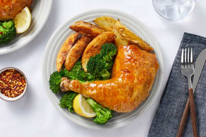 Oven-Baked Apricot Chicken Legs image