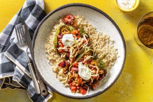 Gevulde paprika met chili con carne image