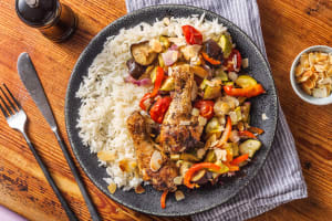 Cuisse de poulet et légumes rôtis image