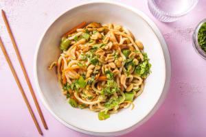 Wok express aux nouilles et poulet épicé à la japonaise image