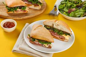 Prosciutto, Fig, and Gouda Sandwiches image