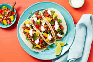 Pineapple Poblano Beef Tacos image