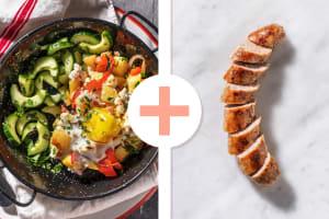 Ovenschotel met groenten, ei en Brandt & Levie varkensworst als extra image