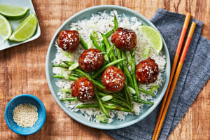 Hoisin-Glazed Meatballs image