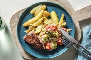 Rinderhüftsteak mit Knoblauch-Kartoffeln image