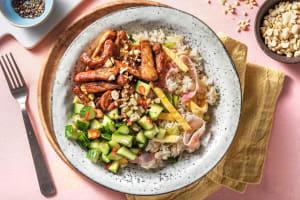 Riz chinois sauté et porc mariné image