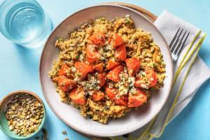 Tomatenbloemen gevuld met feta image