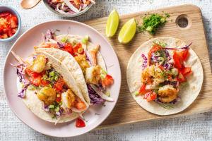 Mini-tortillas aux crevettes croustillantes et au fenouil image