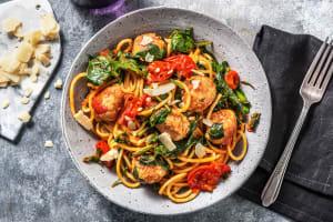 Spaghetti aux boulettes de poulet image
