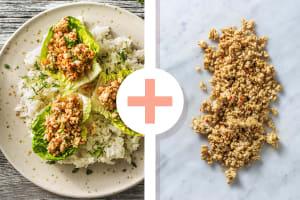 Salade thaïlandaise avec double portion de poulet haché piquant image