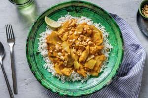 Curry doux à l'indonésienne, cuisse de poulet et citron vert image