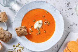 Soupe de poivron et patate douce image