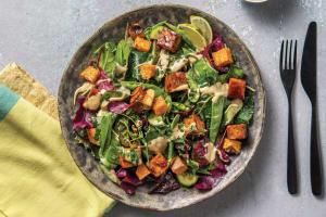 Peking-Style Tofu & Snow Pea Salad image