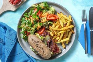 Vegan burger met zelfgemaakte ketchup image
