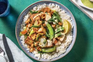 Malaysian Tofu & Veggie Rice Bowl image