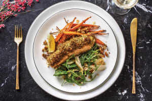 Pesto & Macadamia Crusted Salmon image