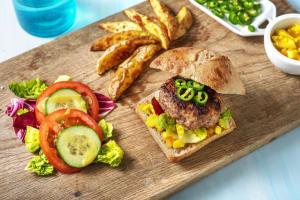Burger au piment vert piquant et au piccalilli image