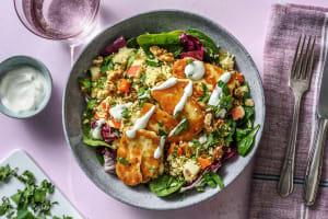 Salade de couscous complet au halloumi et aux carottes image