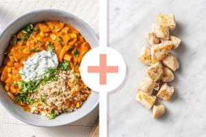 Curry à l'indienne au fenouil et au maïs avec un filet de poulet en extra image