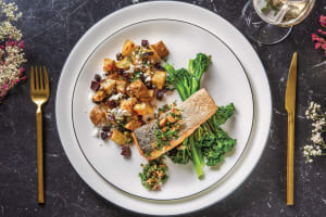 Seared Salmon & Almond-Caper Sauce image