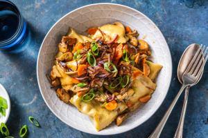 Gemüse-Maultaschen-Pilzpfanne image