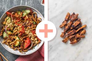 Salade thaïlandaise aux émincés végétariens en double portion image