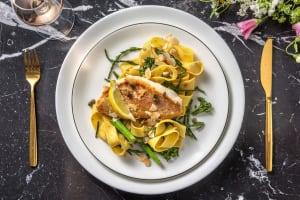 Filet de sébaste accompagné de salicorne et de pappardelle fraîches image