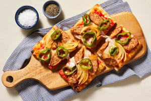 Double Cheese & Pork Sausage Flatbreads image