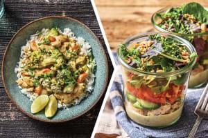 Thai Green Chicken Curry & Jasmine Rice for Dinner image
