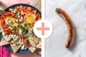 Chakchouka et saucisse de porc en extra image