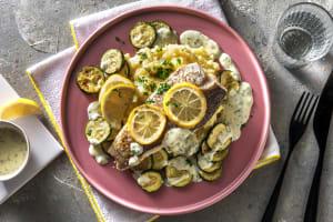 Zitroniger Fisch mit Kerbelsauce image