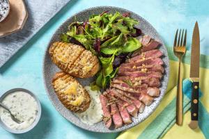 Striploin-Steak mit Rosmarinbutter image
