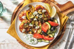 Griechische Ofenkartoffel mit Hirtenkäse image
