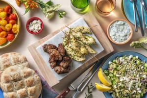 Grillades mixtes à la méditerranéenne : souvlaki et keftas image