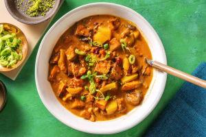 Zoete-aardappelsoep met kokosmelk image