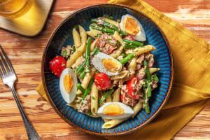 Pasta niçoise met sperziebonen en tonijn image