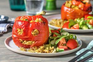 Gevulde paprika-gezichtjes met orzo image