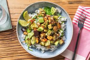 Bowl mit Kokosreis und Miso-Aubergine image