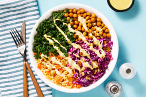 Crunchy Curried Chickpea Bowls image