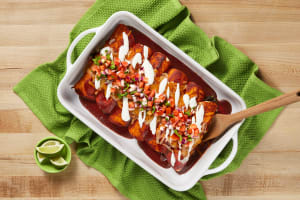 Cheesy Black Bean Enchiladas image