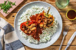 Hähnchenbrust gefüllte Paprika image