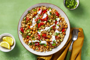 Crispy Chickpea Tabbouleh Bowls image