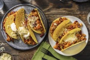 Tacos croustillants au poulet haché et haricots rouges image