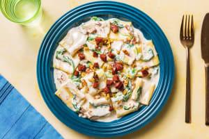 Paccheri-Pasta mit Mascarponesoße image