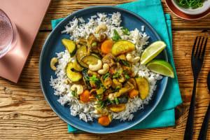 Mildes grünes Curry mit Zucchini image