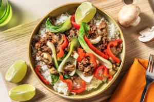 Asiatisches Rindfleisch mit Pilzen image