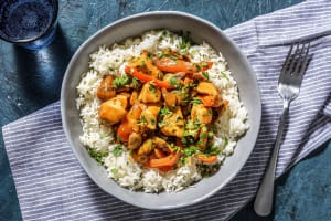 Poulet Stroganoff servi avec du riz image