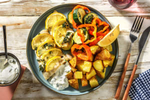 Zitroniger Fisch mit mediterranem Gemüse image