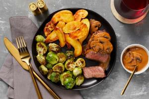 Beef Tenderloin with Mushroom Sauce image