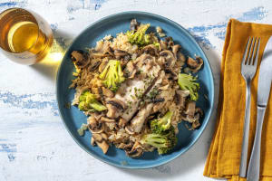 Églefin dans sa marinade de champignons image